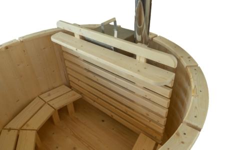 Hot-Tub, Badetonne, Badezuber Natural, Ofenschutz