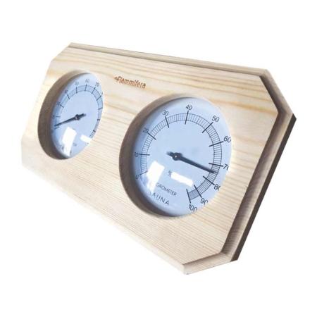 Thermometer und Hygrometer für die Sauna