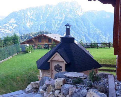 Grillkota Grillhütte in den Bergen